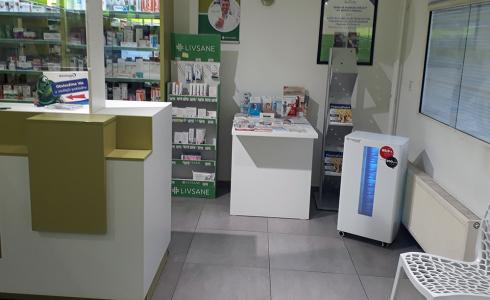 Sterilizátor vzduchu v lékárně v Praze