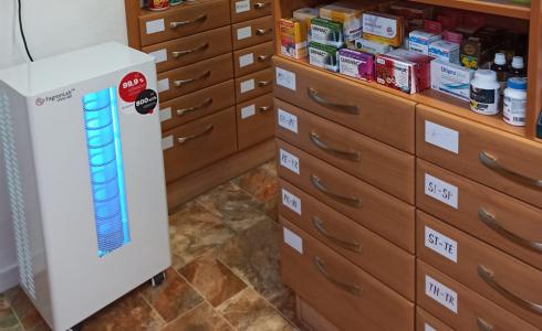 Sterilizátor vzduchu v lékarně v Jaroměřicích