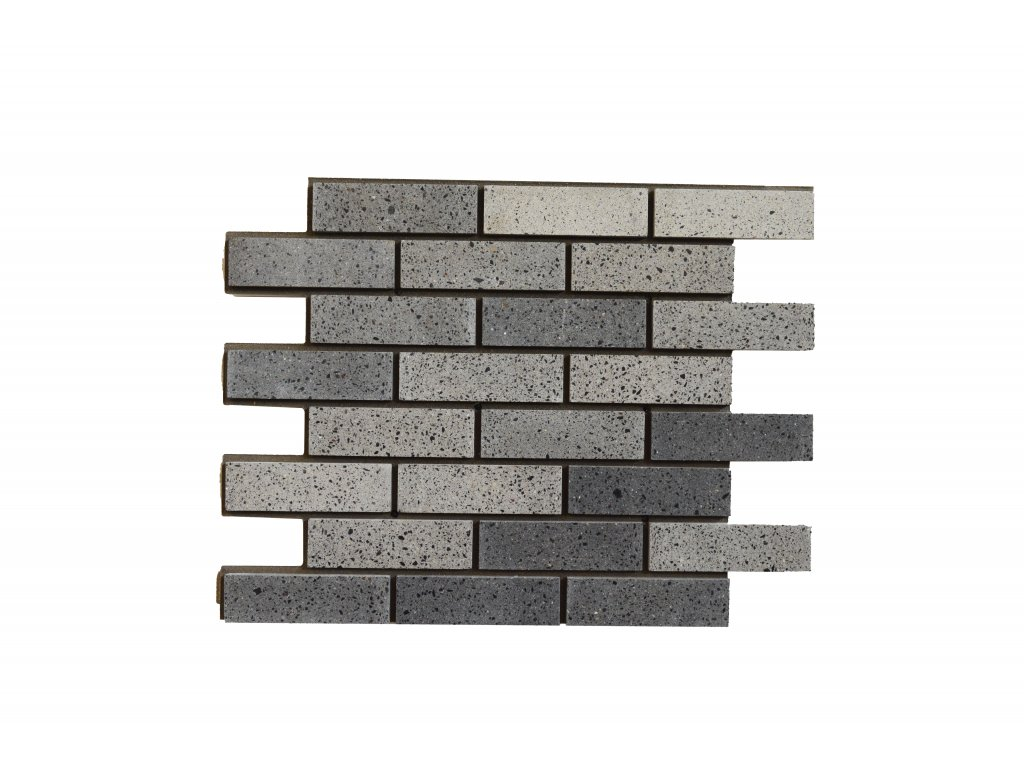 Betonový obklad Grafit MIX - Leštěný   Termopanel   873 x 655 x 51 mm   Plocha 0,5m2    cena za m2