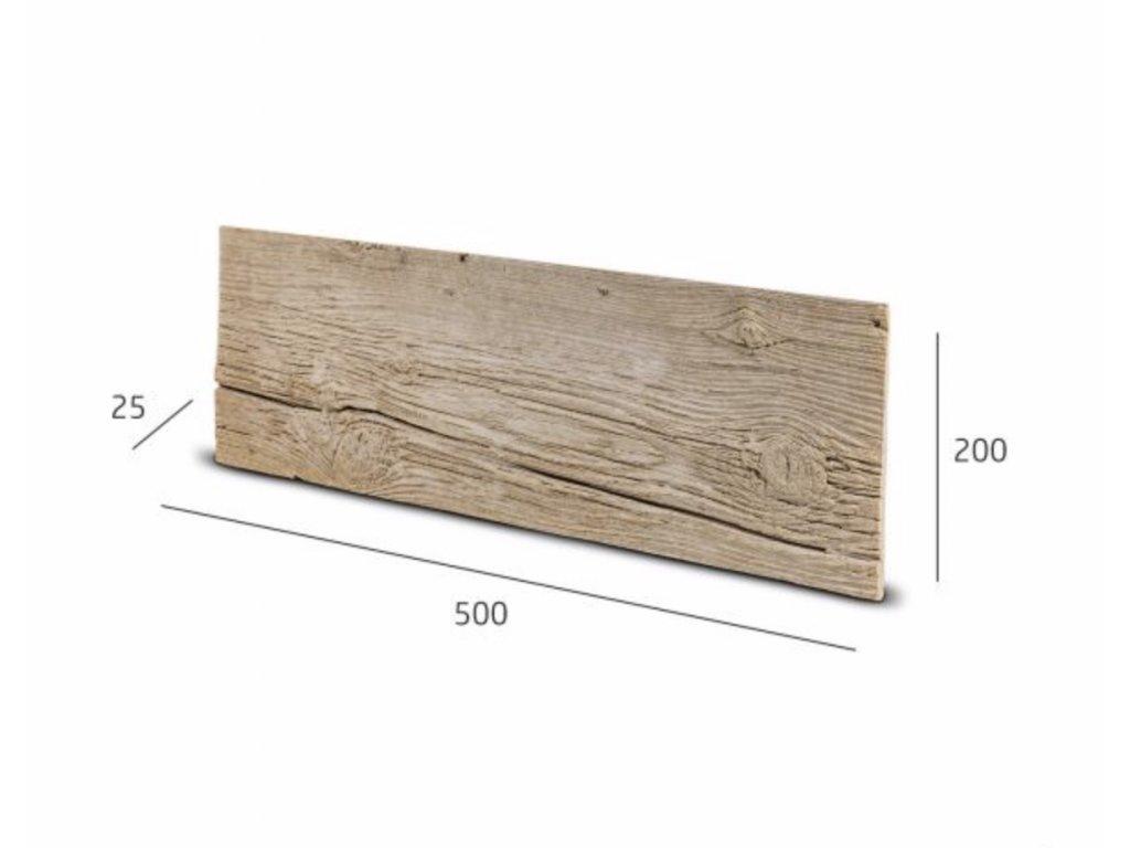Obkladový kámen WOKAM dřevěný dekor hnědá 50,0 x 20,0 cm    cena za balení