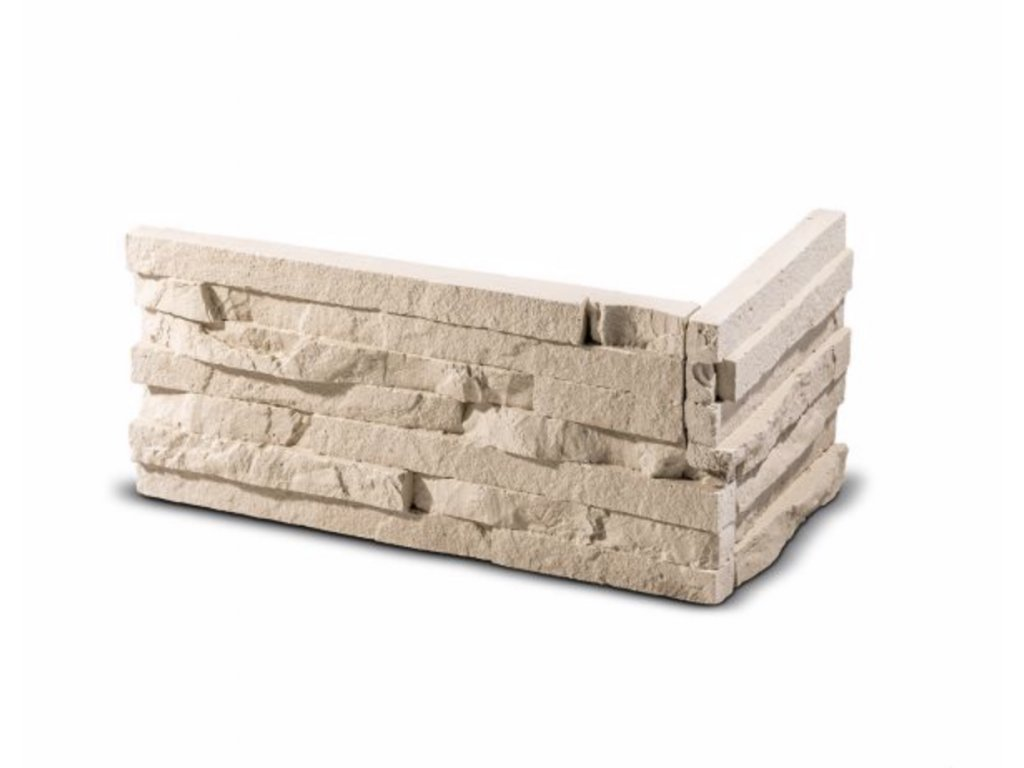 ROH Obkladový kámen TEPIC krémová 33,0 x 14,5 x 14,5 x 2,5 cm    cena za balení