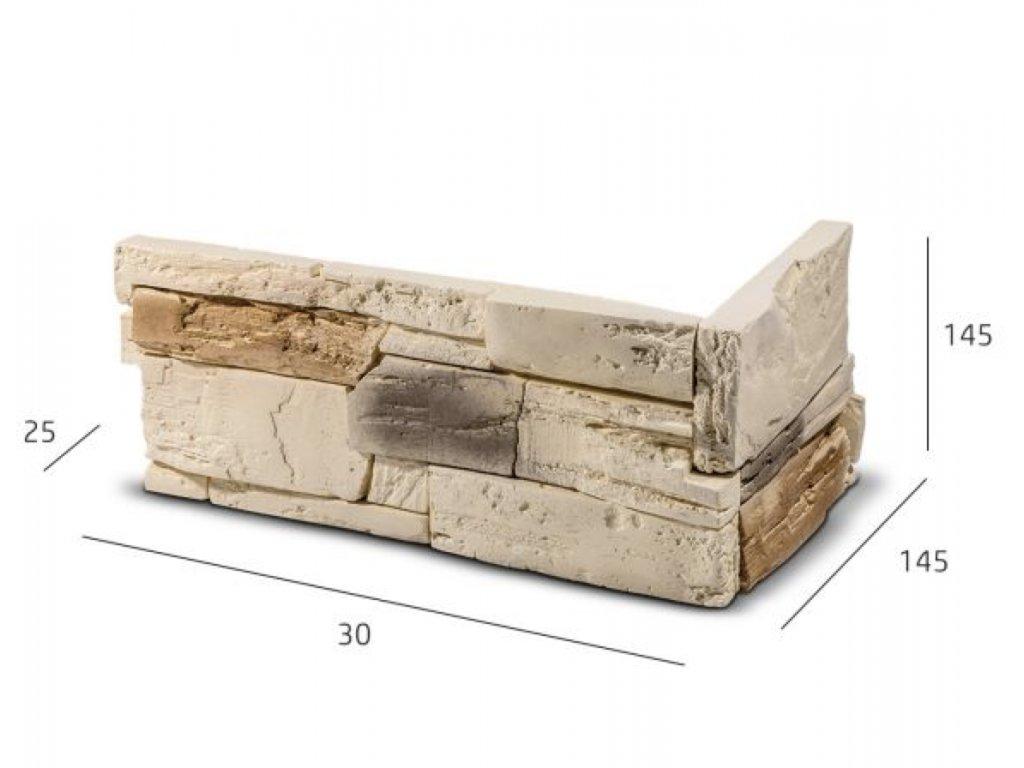 ROH Obkladový kámen TENABO béžová 33,0 x 14,5 x 14,5 x 2,5 cm    cena za balení