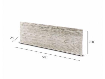 Obkladový kámen WOKAM dřevěný dekor krémová 50,0 x 20,0 cm    cena za balení