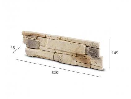 Obkladový kámen TENABO béžová 53,0 x 14,5 cm  | cena za m2
