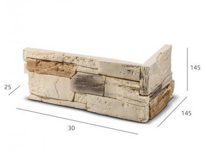 ROH Obkladový kámen TENABO béžová 33,0 x 14,5 x 14,5 x 2,5 cm  | cena za balení