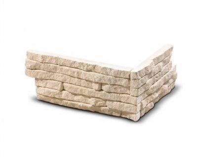 ROH Obkladový kámen TORRES krémová 21,0 x 12,5 x 9,0 x 2,1 cm  | cena za balení