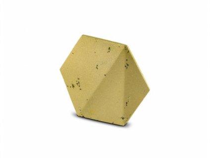 Obkladový kámen PLAYA HEXAGON 3D zlatý 20,5 x 37,5 x 17,5 x 2,0 cm
