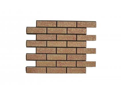 Termopanel  Broskev - Želva | Betonový obklad | PUR pěna | Plocha 0,5 m2  | cena za m2