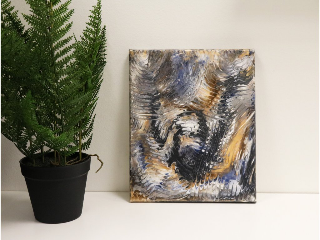 Abstraktní obraz Vichřice
