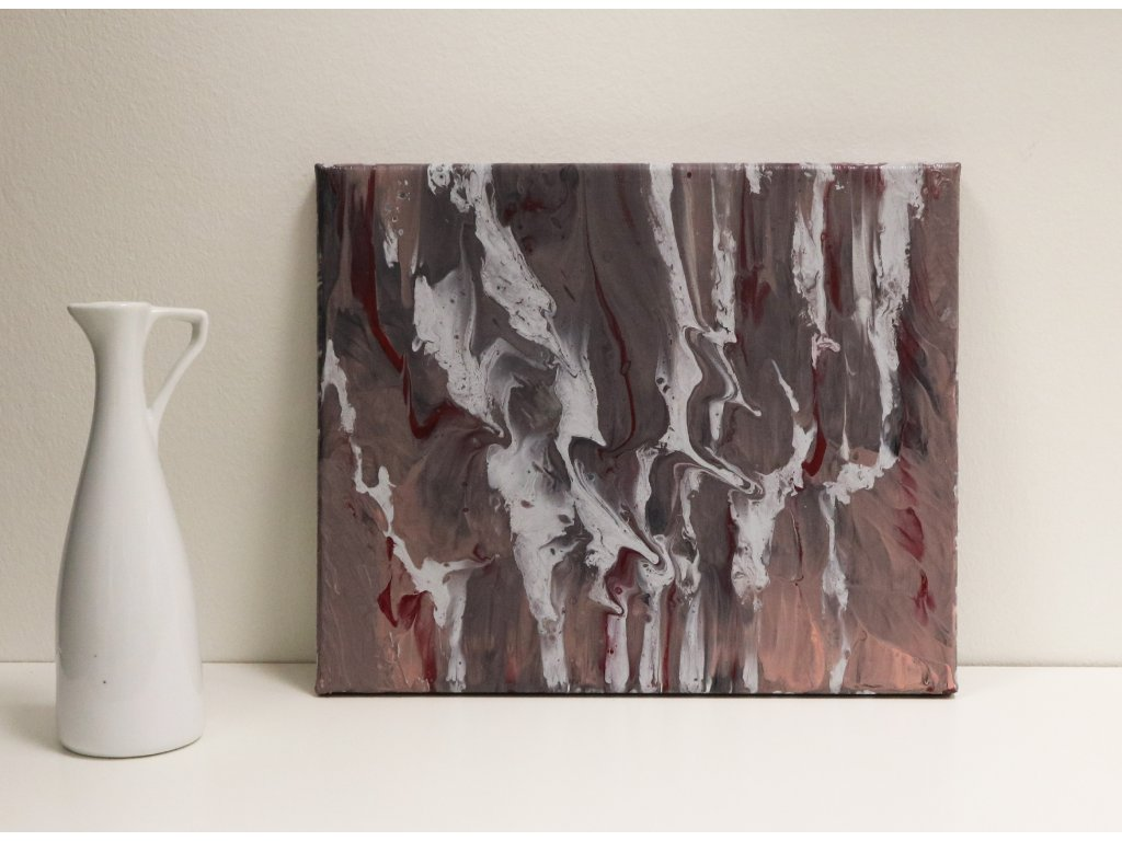 Abstraktní obraz Leden