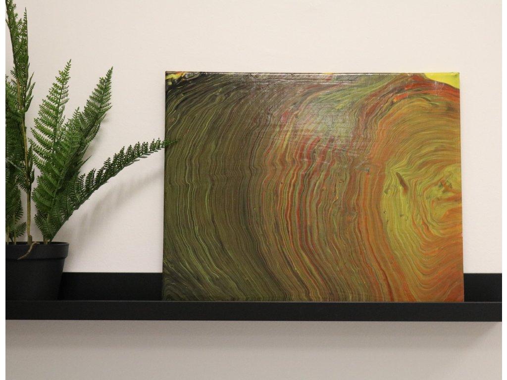 Abstraktní obraz Dřevo