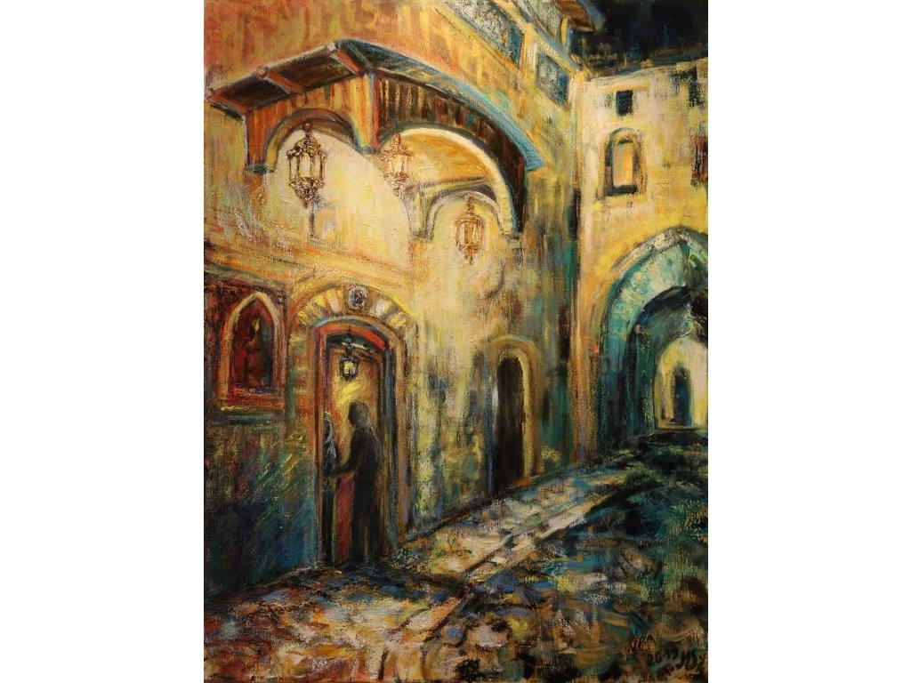 Setkání ve starém Damašku 50x70cm 13000kč