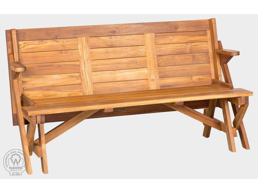9095 moreno rozkladaci lavice skladaci stul z teaku