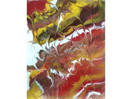 59.Plátno, 40x50, akryl. Cena 1350,