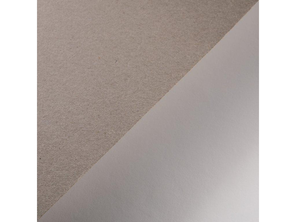 Lepenka, 1.0 mm, B1, strojní šedá