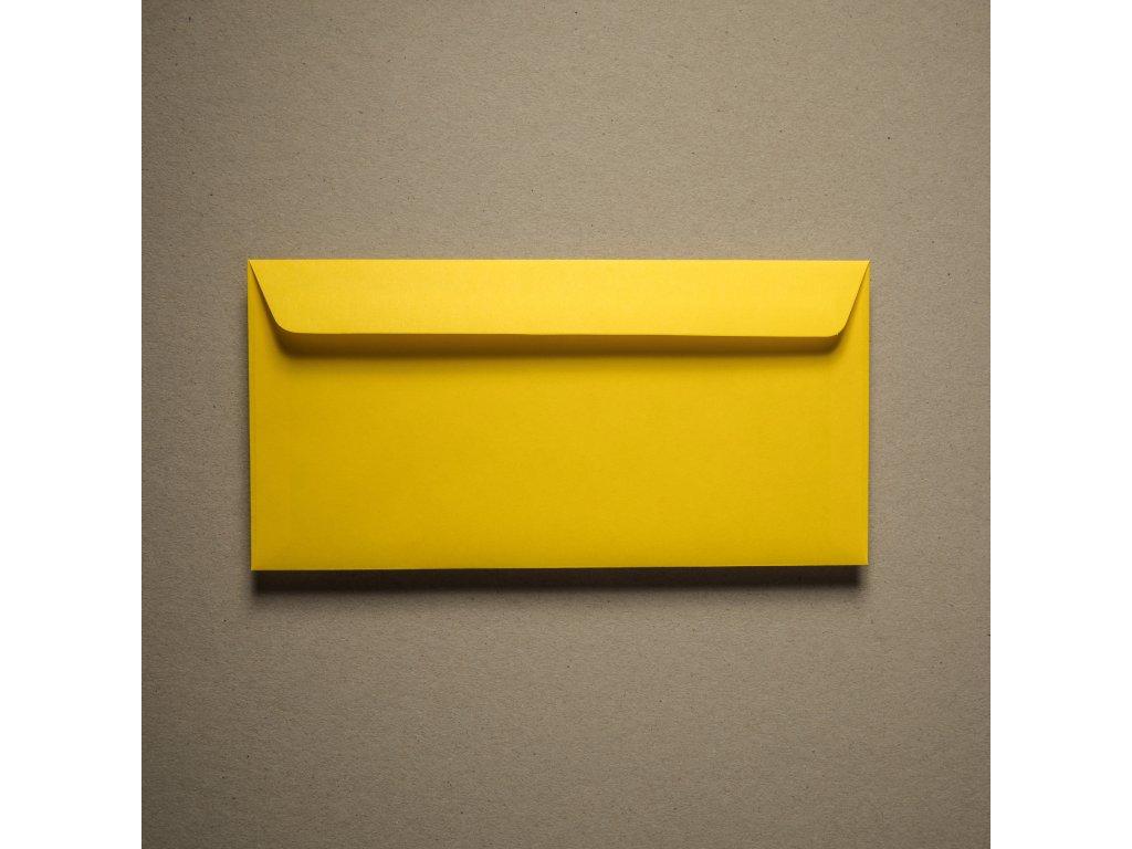 Obálka, DL, IQ color, žlutá, 120 g