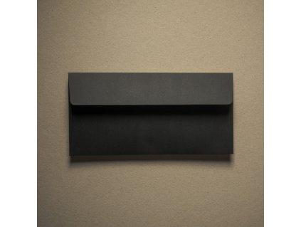 Obálka, DL, Black, 120 g, černá