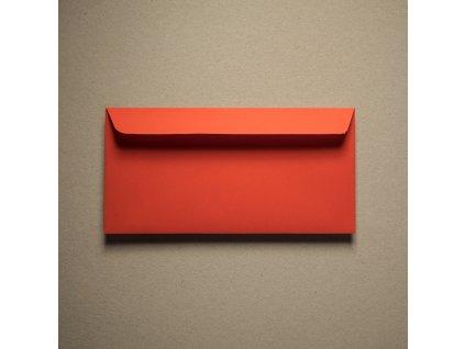 Obálka, DL, Rainbow, 80 g, intenzivní červená