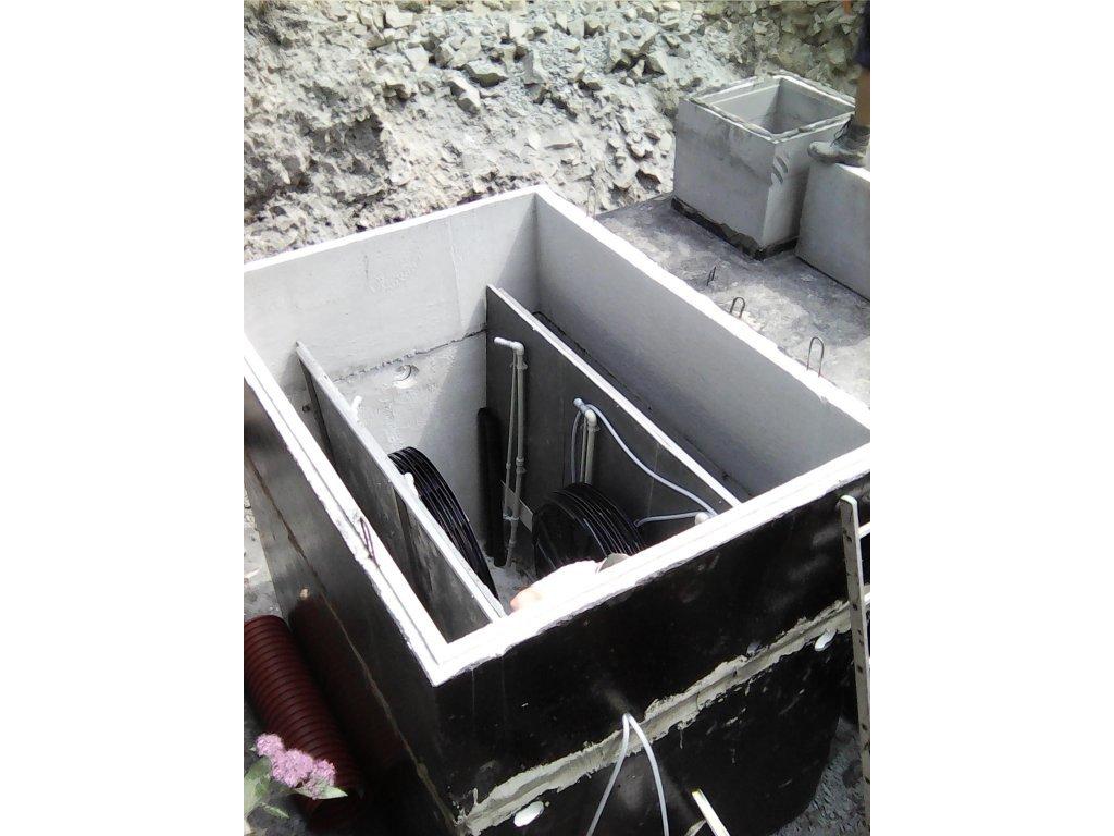 Čistírna odpadních vod pro 60 osob - Hellstein STMH53  - bezúdržbová 3stupňová technologie