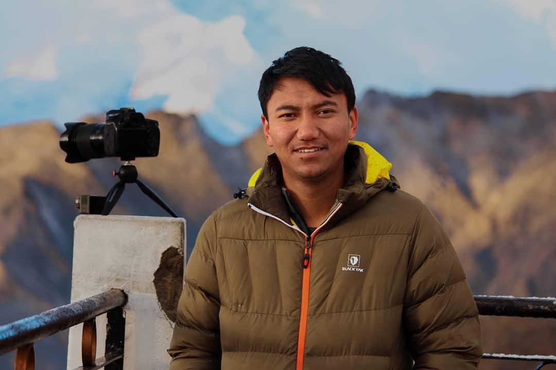 Nadšený fotograf a filmař Jigmet