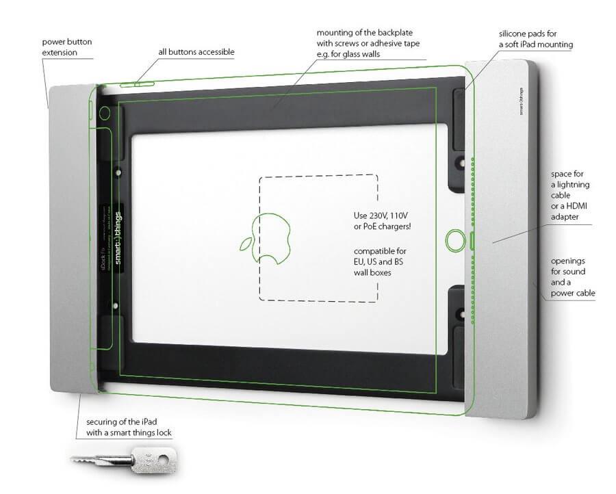 Nástenný držiak pre iPad
