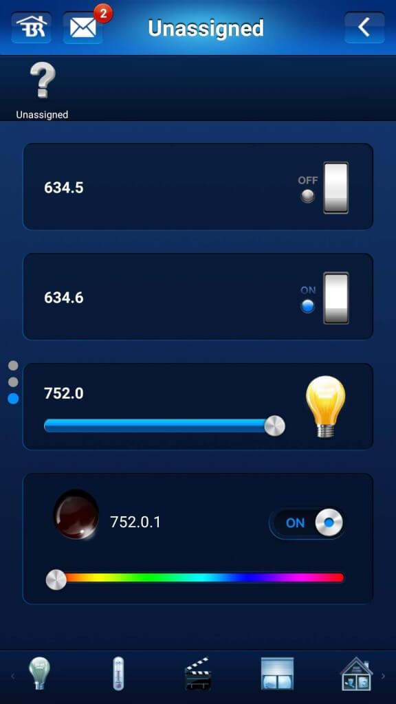 ovládanie svetla cez mobil
