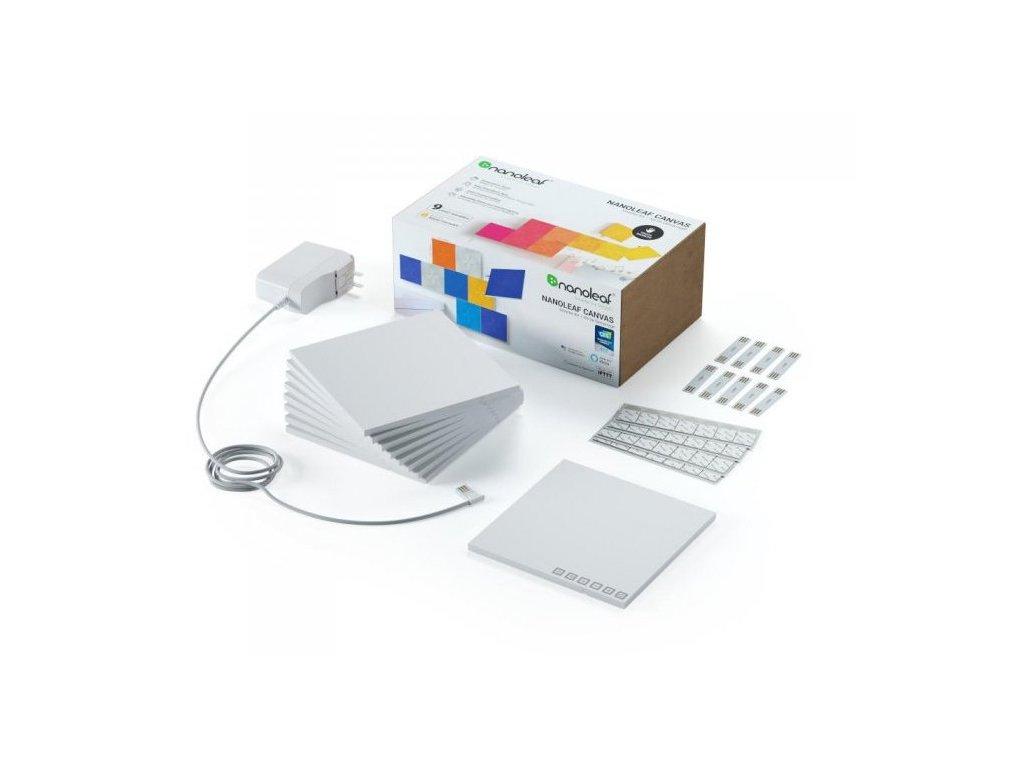 nanoleaf canvas smarter kit 9 light squares