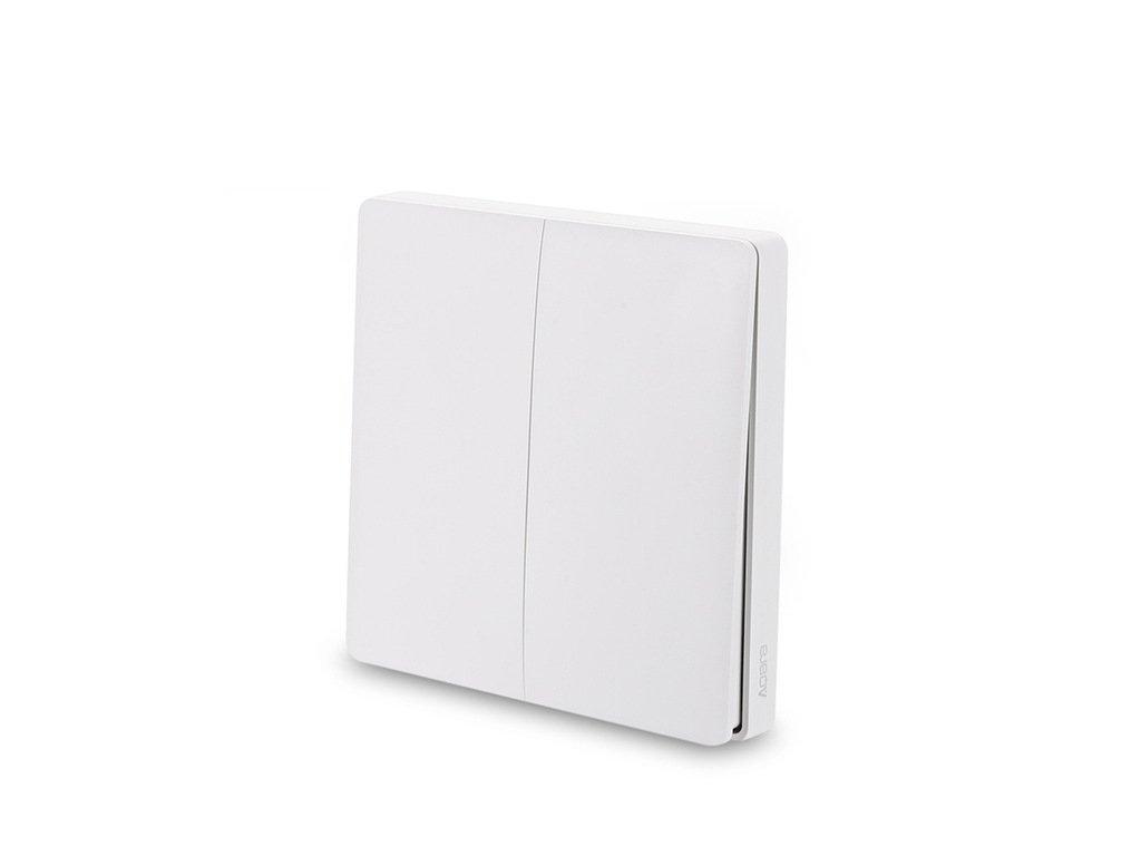 2018 Xiaomi Aqara Smart Light Switch Global Version WXKG02LM Wireless Double Key Mi Home App Control ZigBee Wireless Wall Switch ncx0