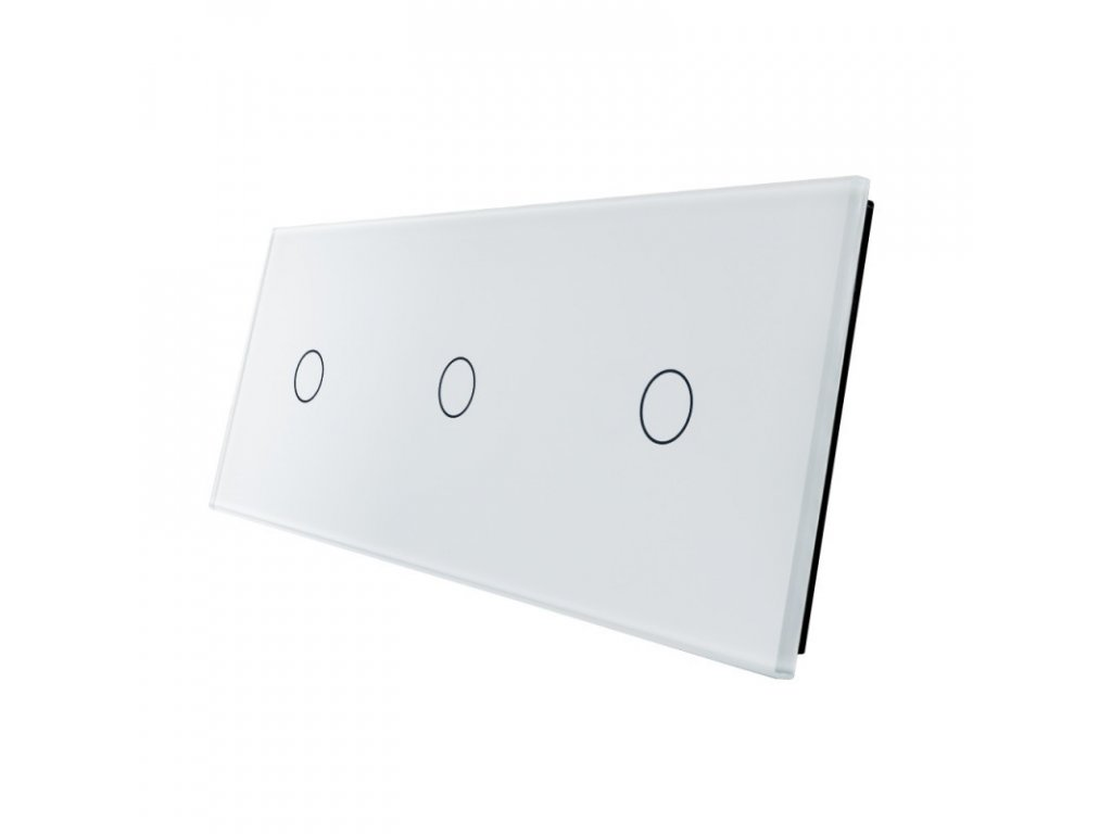 LIVOLO VL-C7-C1/C1/C1-11 sklenený 3-rámik biely