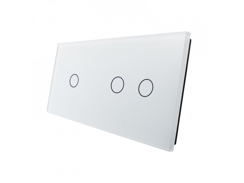 LIVOLO VL-C7-C1/C2-11 sklenený 2-rámik biely