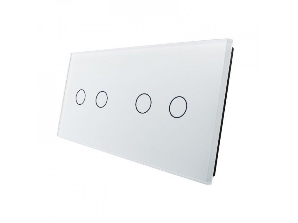 LIVOLO VL-C7-C2/C2-11 sklenený 2-rámik biely