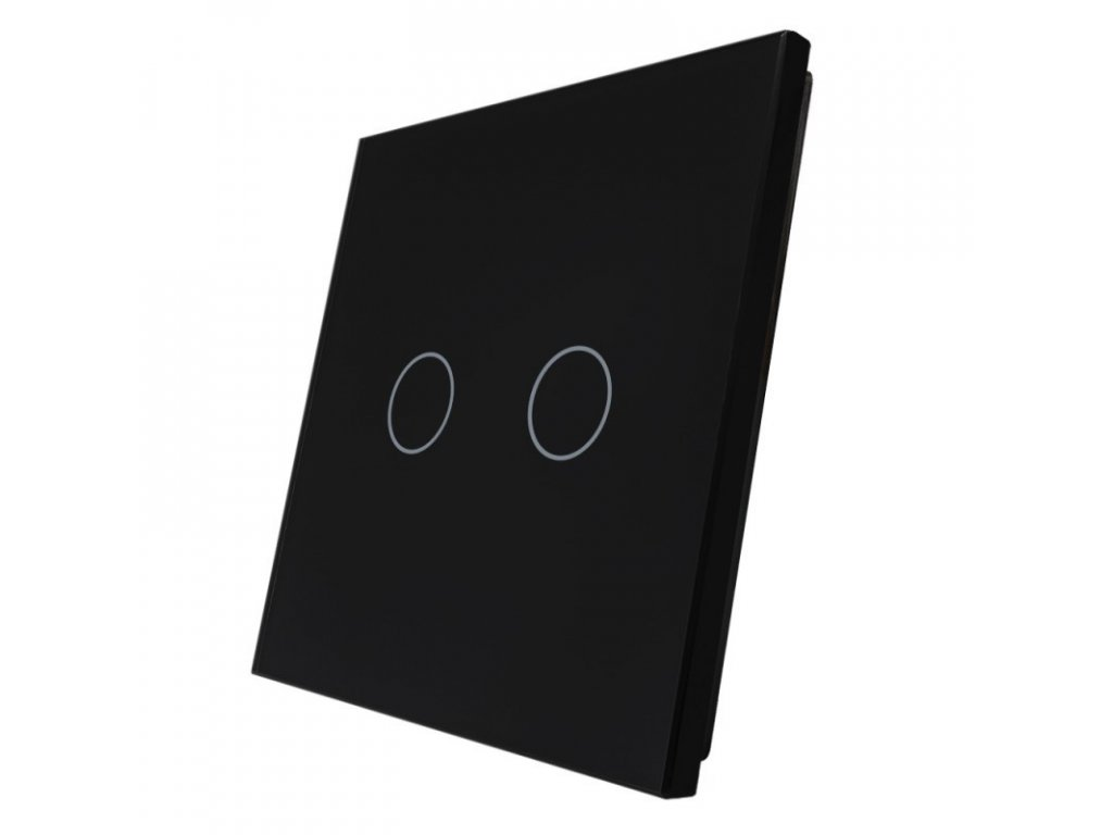 LIVOLO 2C-12 sklenený 1-rámik čierny