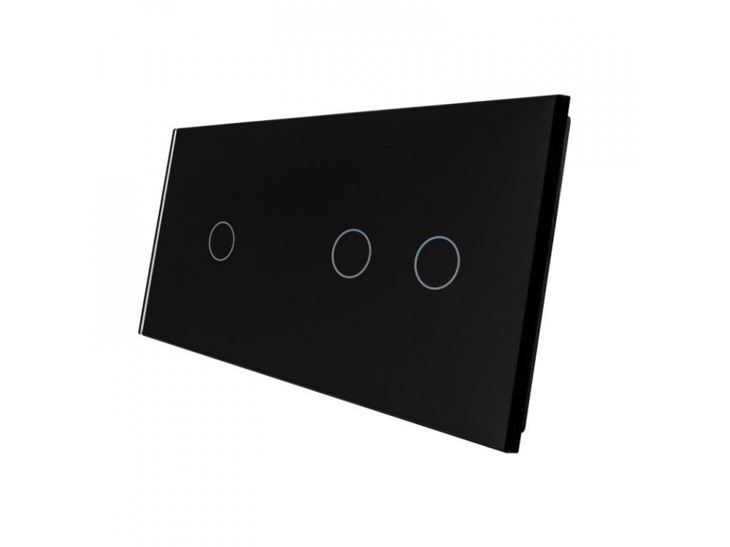 LIVOLO VL-C7-C1/C2-12 sklenený 2-rámik čierny