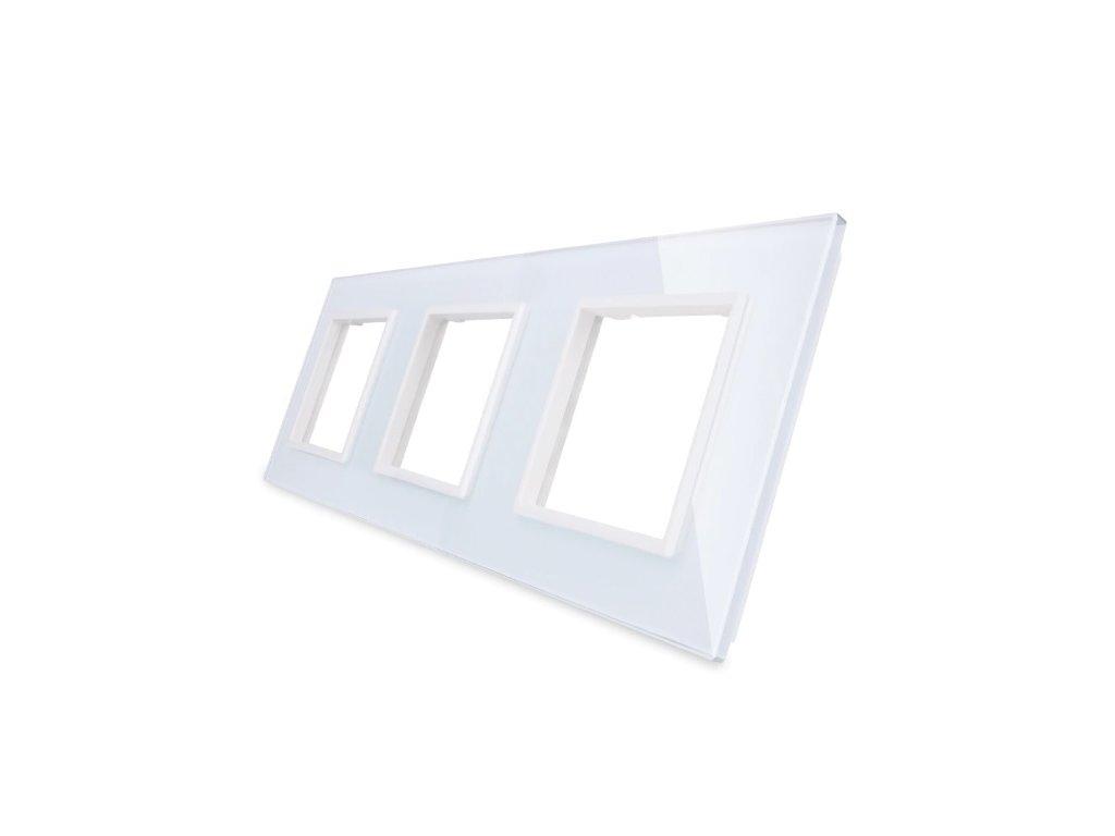 LIVOLO SR-SR-SR-11 sklenený 3-rámik biely