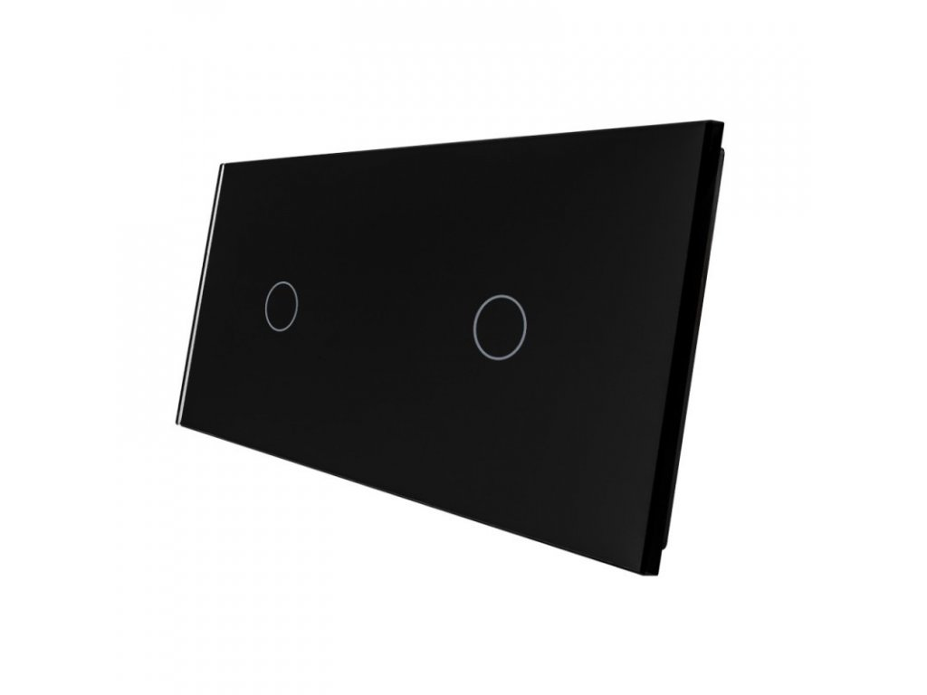 LIVOLO VL-C7-C1/C1-12 sklenený 2-rámik čierny