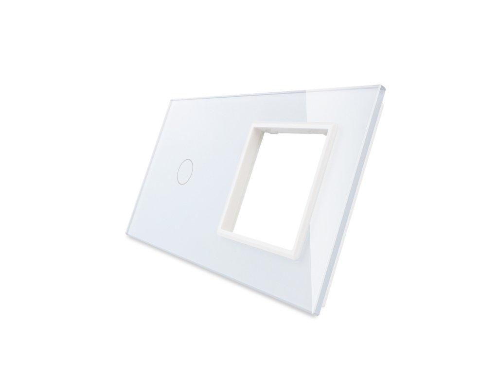 sklenený 2-rámik biely