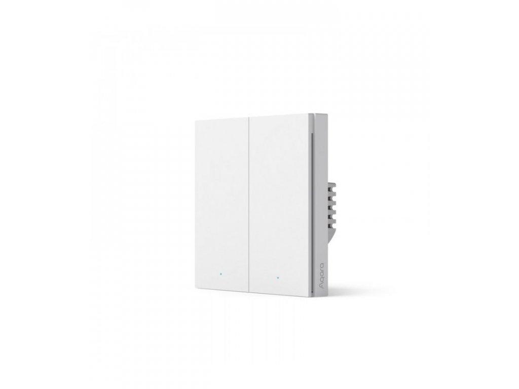 zigbee vypinac s dvojitym rele aqara smart wall switch h1 eu no neutral double rocker ws euk02