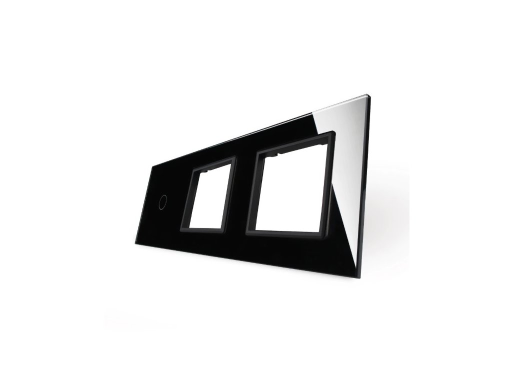 LIVOLO 1C-SR-SR-12 sklenený 3-rámik čierny