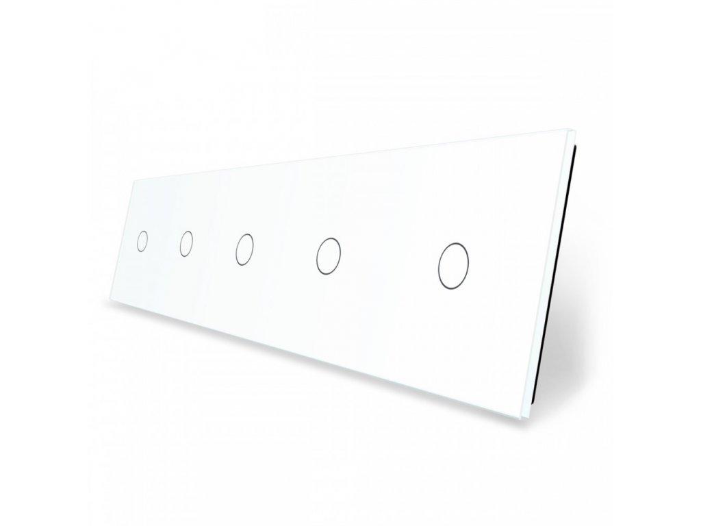 LIVOLO 1C-1C-1C-1C-1C-11 sklenený 5-rámik biely