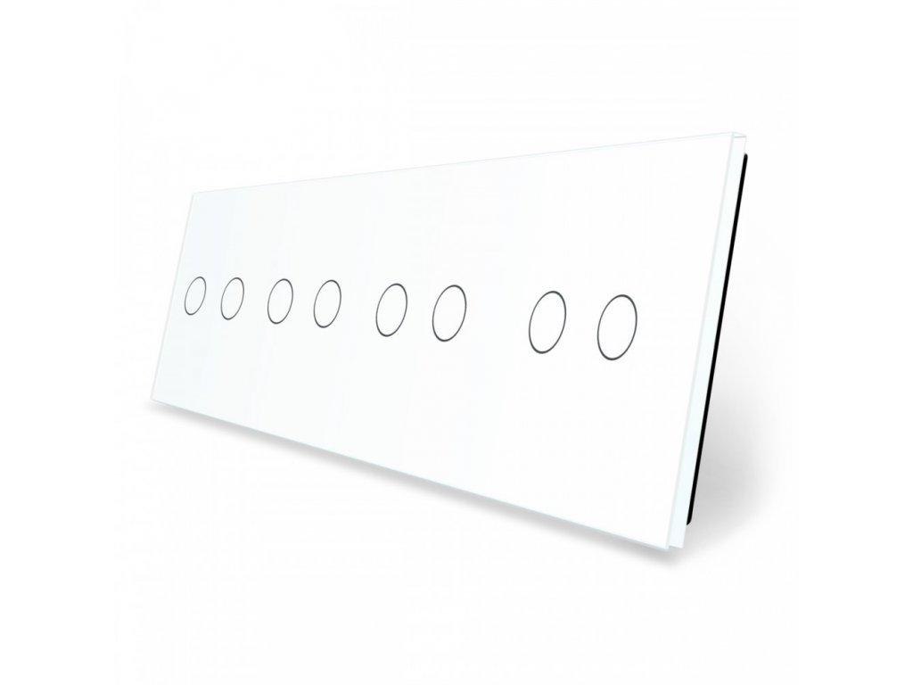 LIVOLO 2C-2C-2C-2C-11 sklenený 4-rámik biely