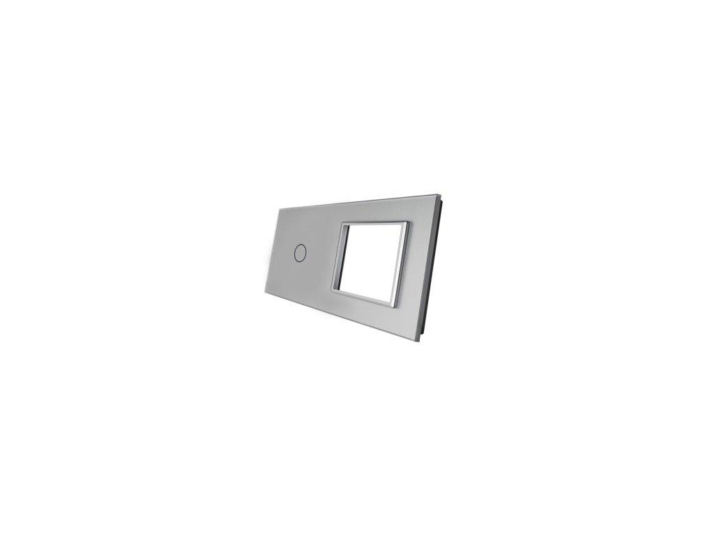 sklenený 2-rámik strieborný