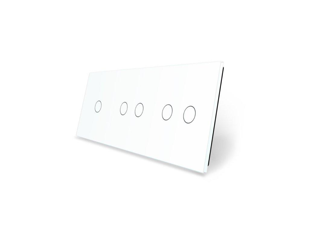 LIVOLO 1C-2C-2C-11 sklenený 3-rámik biely
