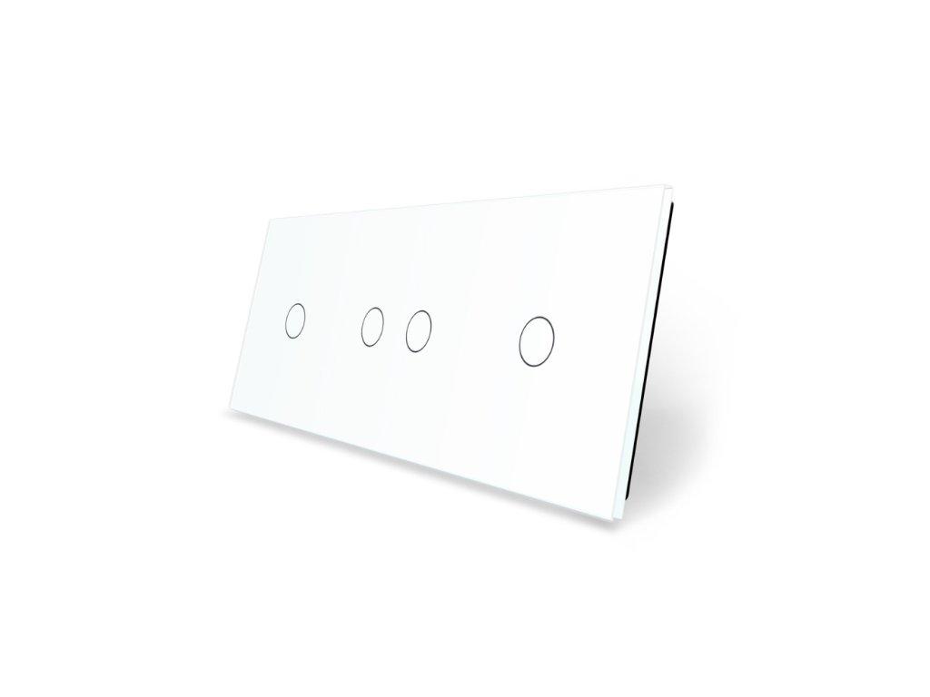 LIVOLO 1C-2C-1C-11 sklenený 3-rámik biely