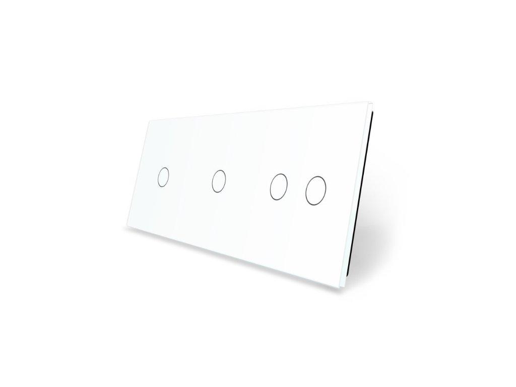 LIVOLO 1C-1C-2C-11 sklenený 3-rámik biely