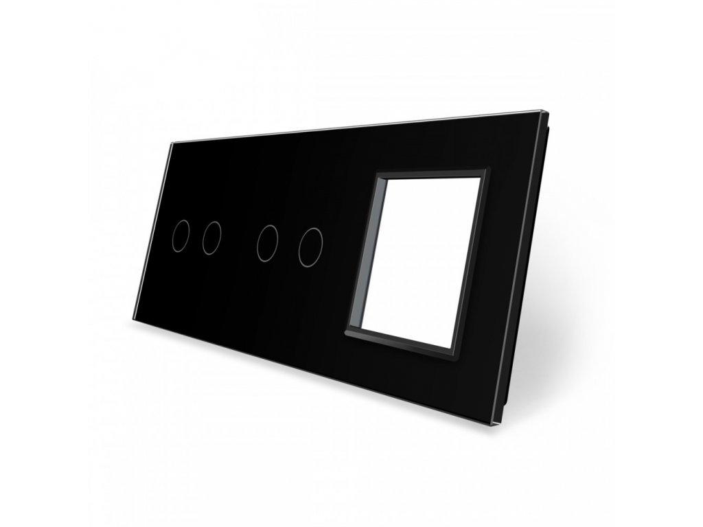 LIVOLO 2C-2C-SR-12 sklenený 3-rámik čierny