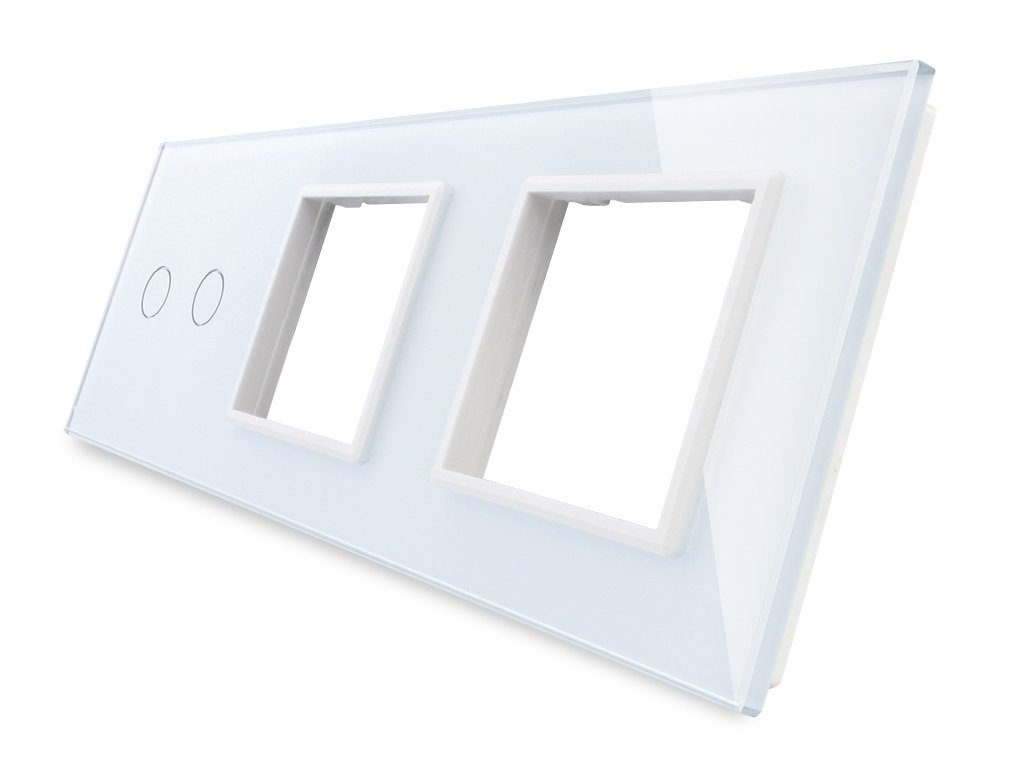 sklenený 3-rámik biely