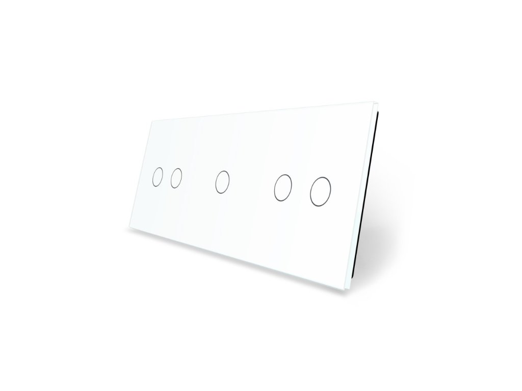 LIVOLO 2C-1C-2C-11 sklenený 3-rámik biely