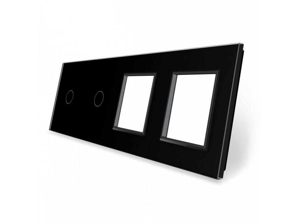 LIVOLO 1C-1C-SR-SR-12 sklenený 4-rámik čierny