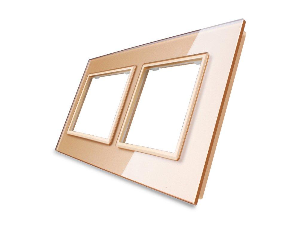 sklenený 2-rámik zlatý