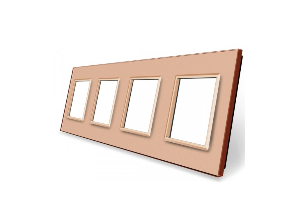 sklenený 4-rámik zlatý